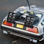 Welly DeLorean Time Machine Rear View