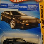 2010 DeLorean DMC-12 Black Matchbox Car