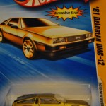 2010 Gold DeLorean DMC-12 Matchbox car
