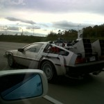 DeLorean Time Machine on the road