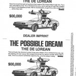 DeLorean Dealer Ad