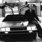 John DeLorean with DMC-12