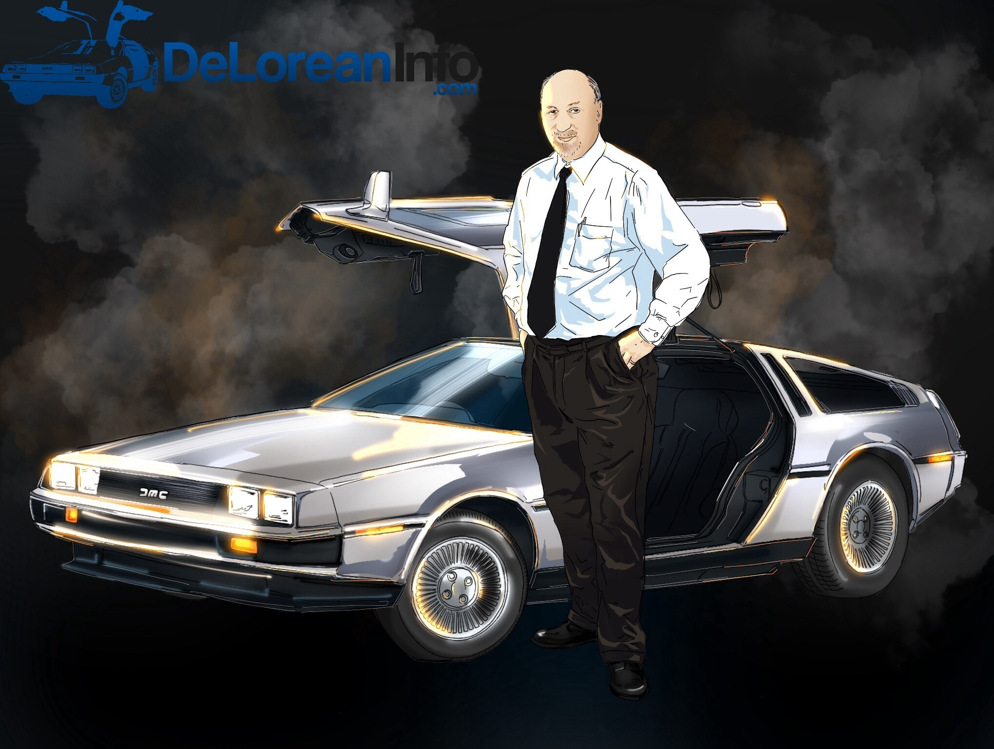 Tony De Falco with the DeLorean DMC-12
