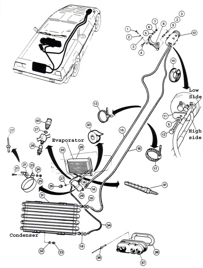 DeLorean Parts Diagram