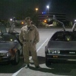 Two DeLorean DMC-12's and Ernest Cline